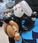 Lysa Shin balloon art Jason Voorhees